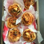 Mushroom, Bacon & Cheese Pizza Scrolls